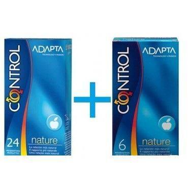 Control Nature 24 Preservativos + 6 Preservativos Ultrafeel  GRATIS