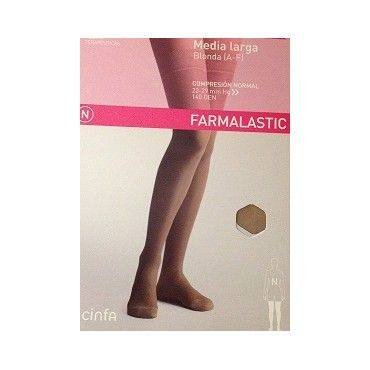 Farmalastic Media Larga Compresion Normal Beige Talla Grande