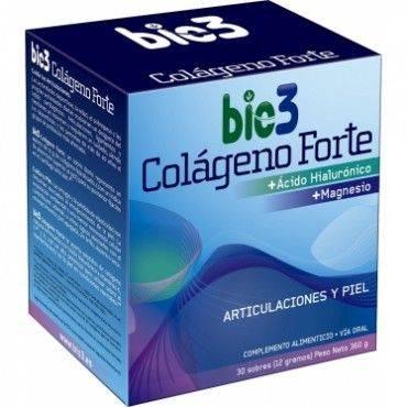 Bio3 Colageno Forte Con Acido Hialuronico 30 Sobres