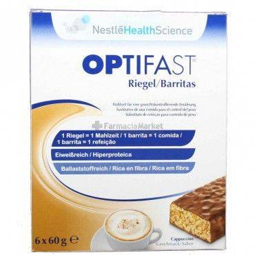 Nestle Optifast Barritas Sabor Cappucino 6 Unidades