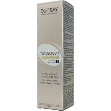 Ducray Melascreen Crema de Noche Fotoenvejecimiento UV Antiaging 50 Ml