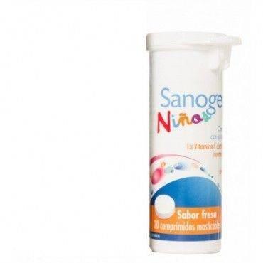 Sanogermina Inmuno Niños Fresa 20 Comprimidos