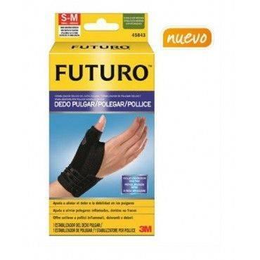 Futuro Muñequera Estabilizador Dedo Pulgar Negra Talla S-M.