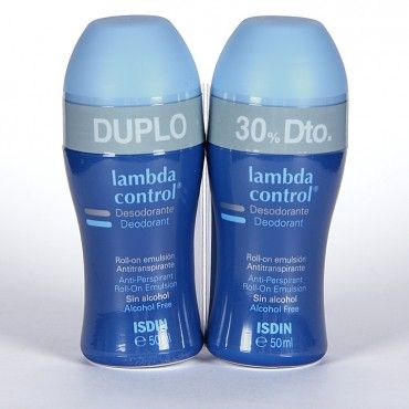 Isdin Lambda Control Desodorante Roll-On Antitranspirante Piel Normal 50 Ml + 50 Ml