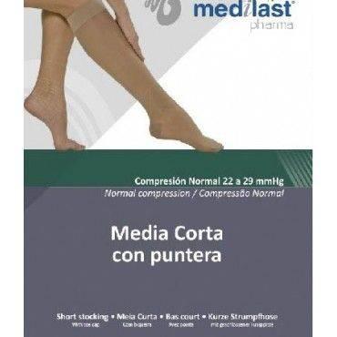 Medilast Media Corta Compresión Normal Con Puntera Talla M