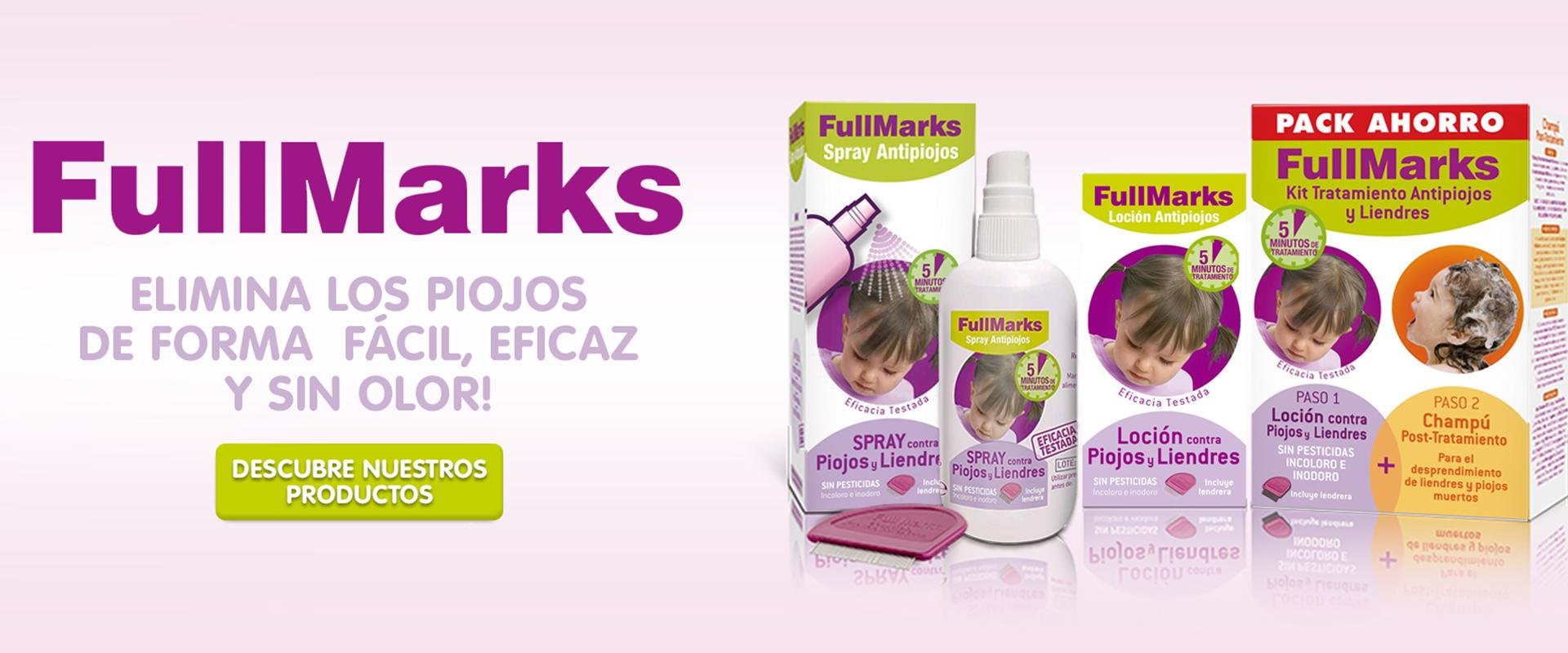 Los tratamientos de piojos FullMarks son una solución pediculicida que no contiene pesticidas.